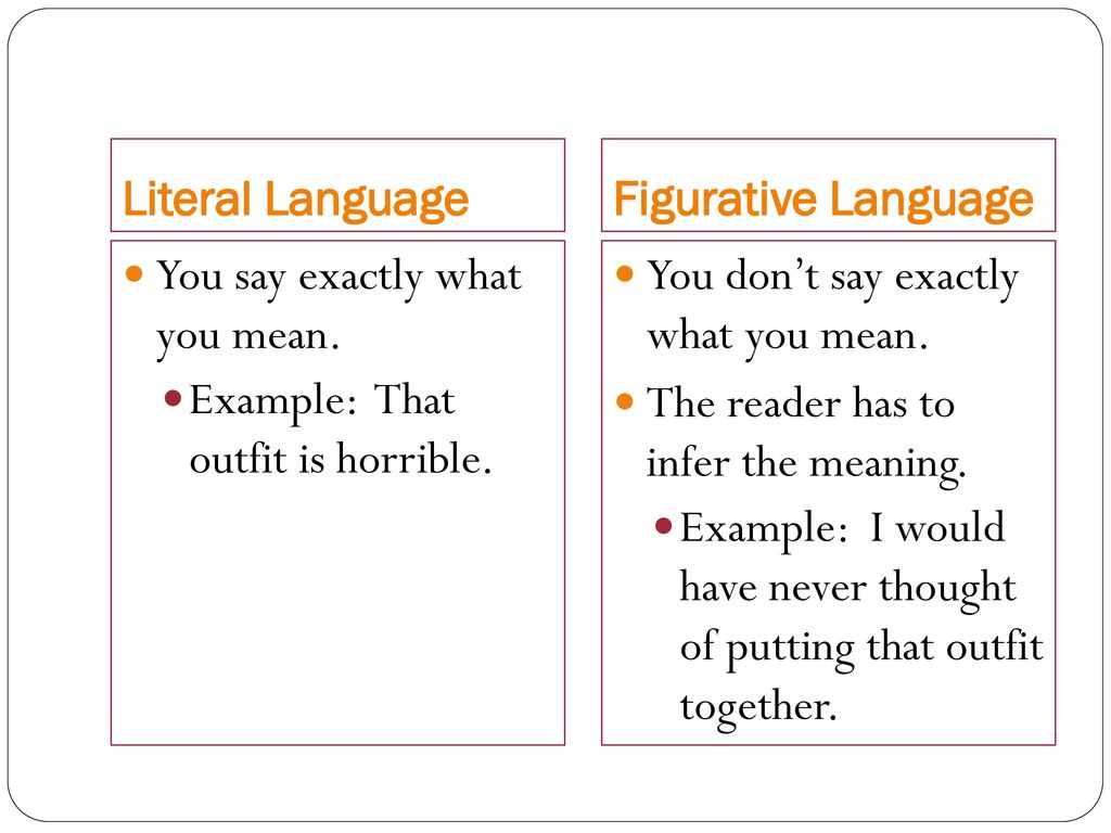Figurative And Literal Language Ppt Download