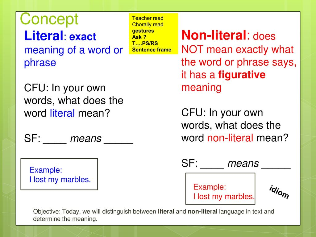 The figurative meaning of the word: examples. Words in both literal and figurative meaning 88