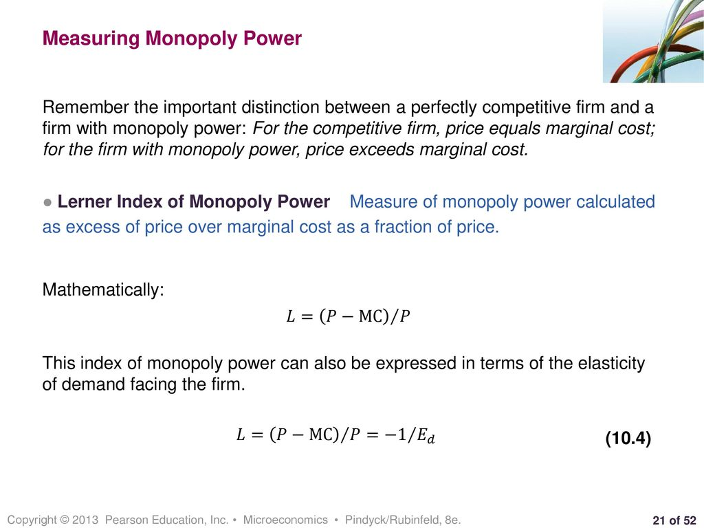 monopoly power and its measurement
