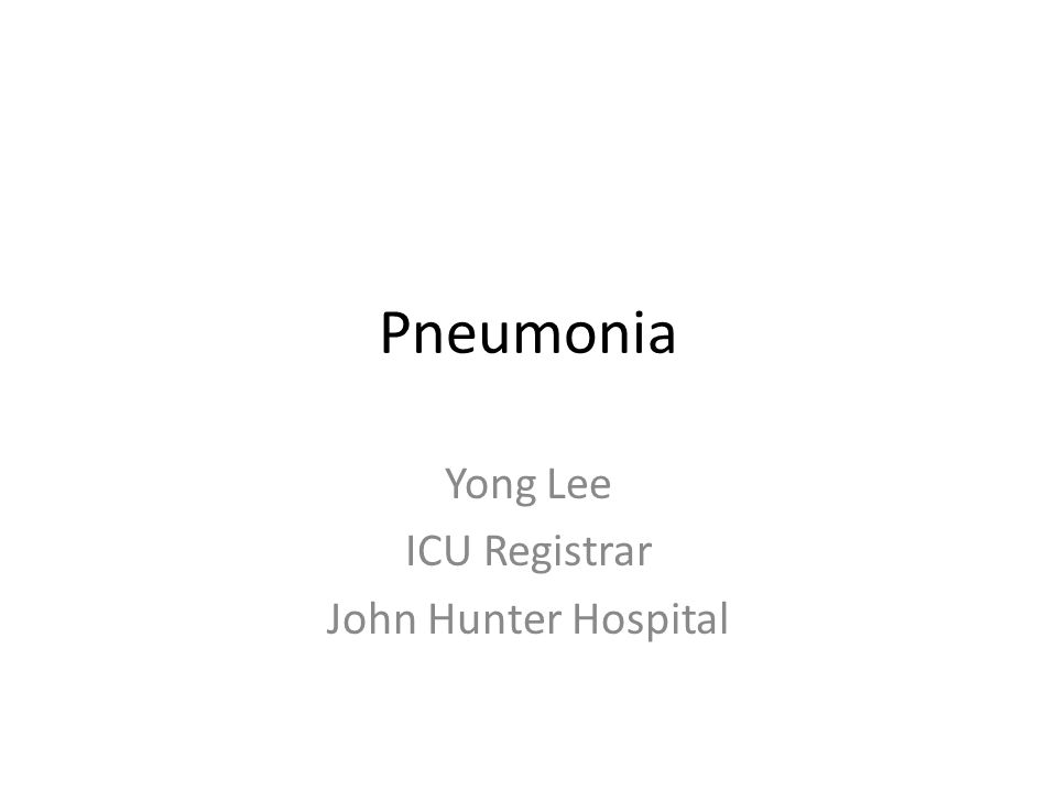Yong Lee ICU Registrar John Hunter Hospital