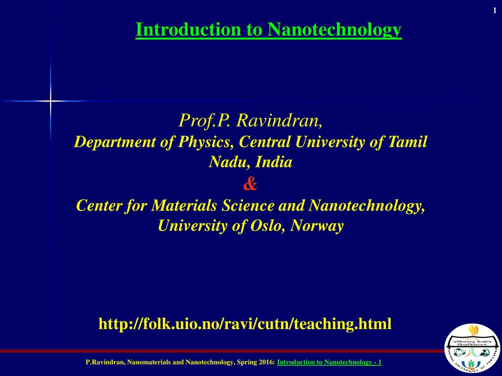 An introduction to nanotechnology computer science essay