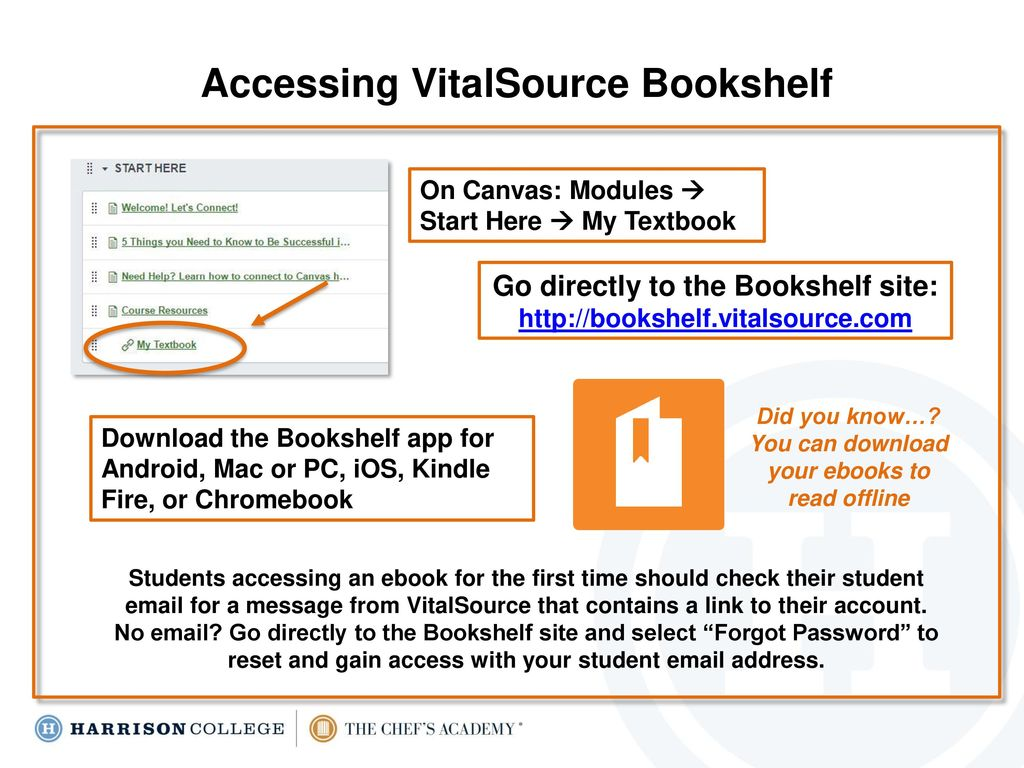 Accessing And Using Your VitalSource EBook