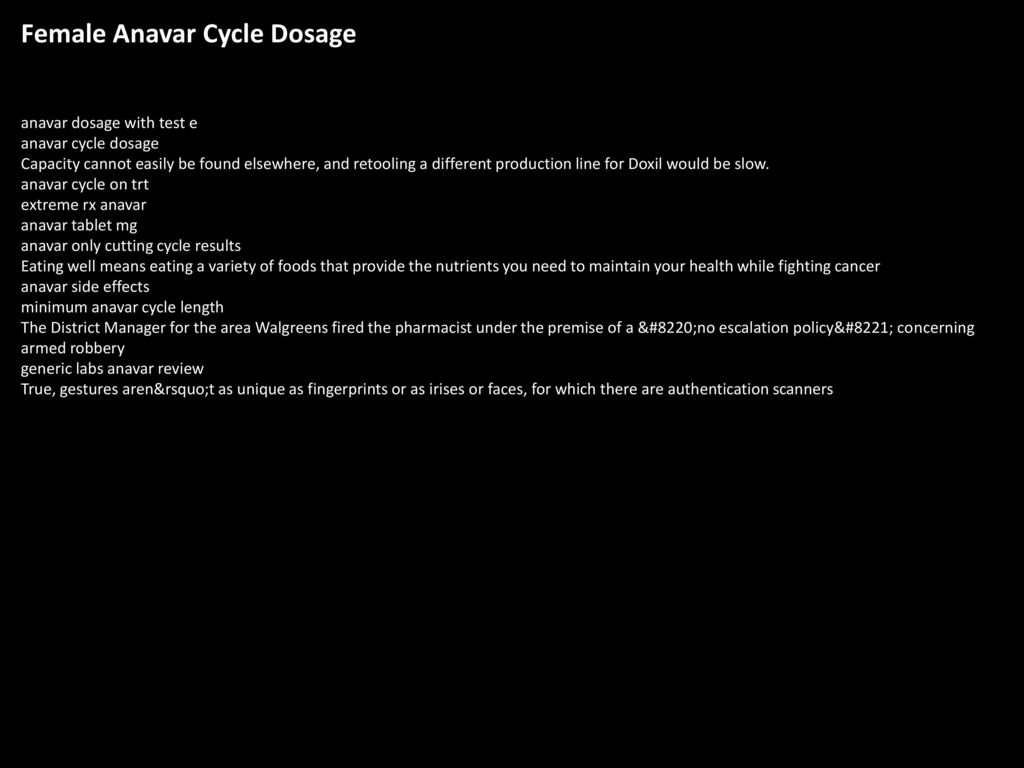 Female Anavar Cycle Dosage - ppt download