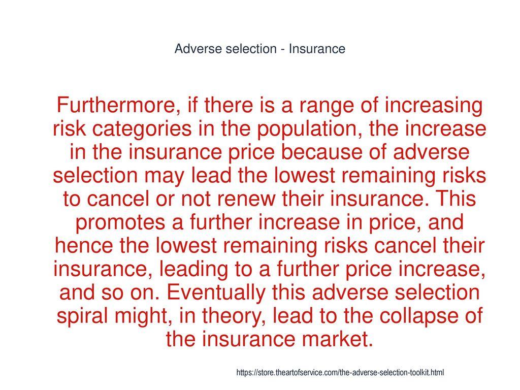 adverse selection insurance