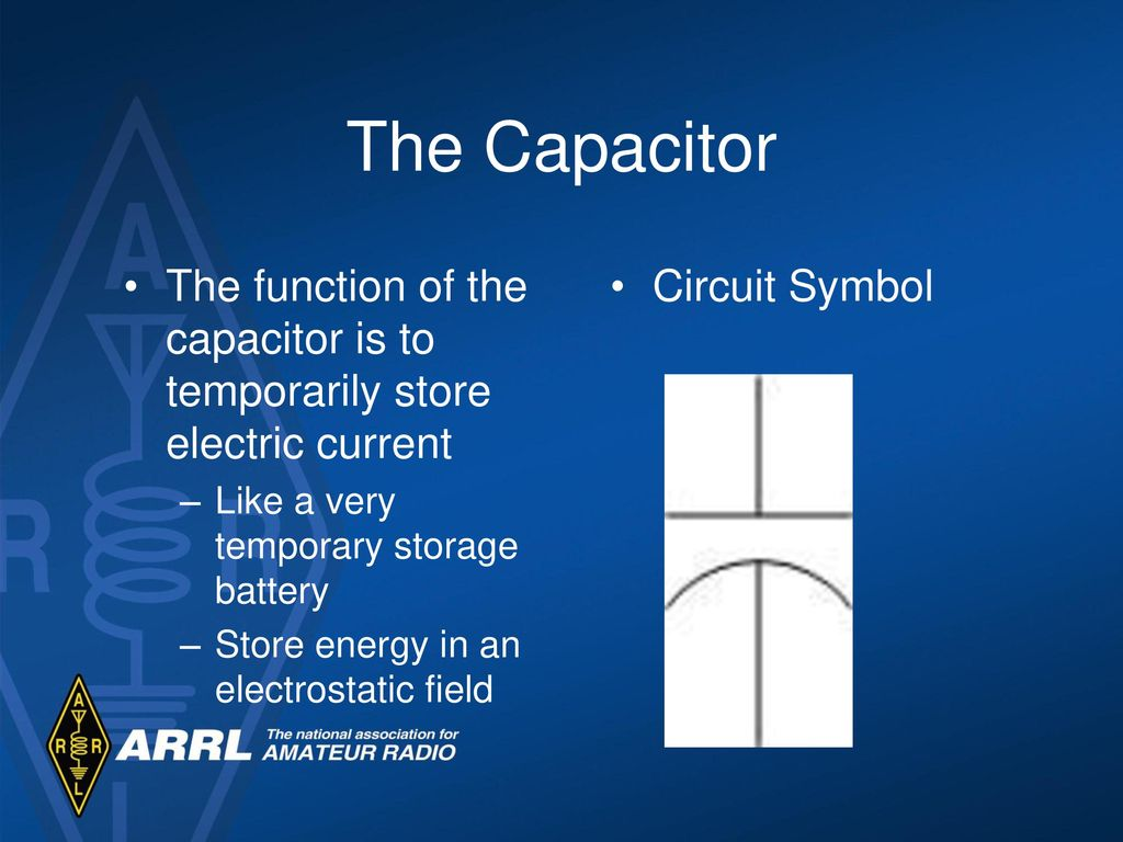 basic electricity components ppt video online downloadthe capacitor the function of the capacitor is to temporarily store electric current like a