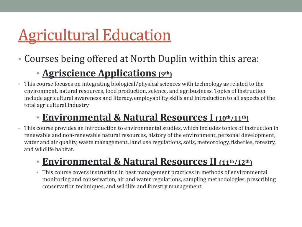 agriscience and technology topics