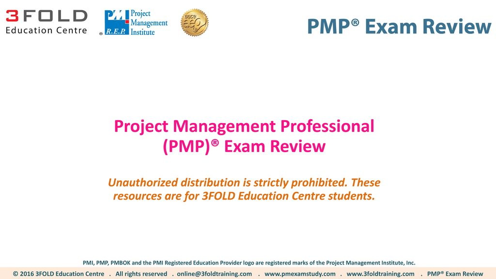 Project Management Professional Pmp Exam Review Ppt Download