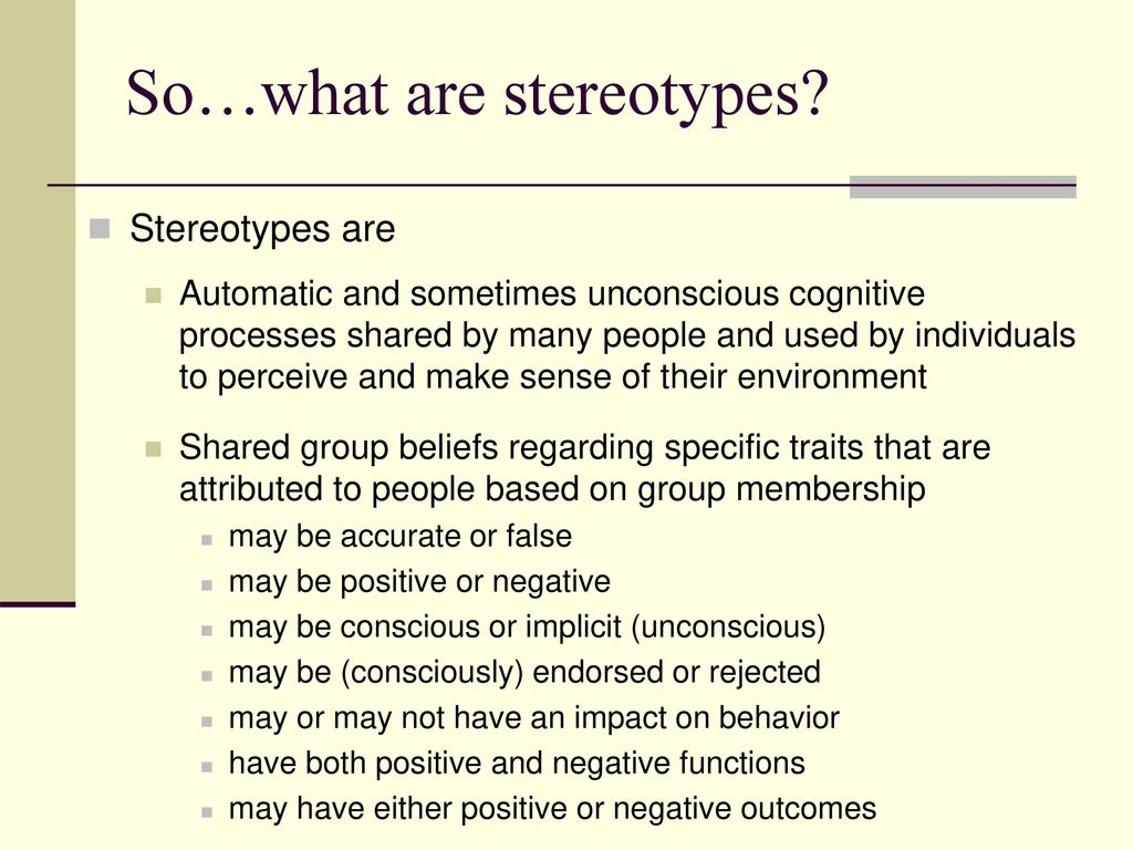 What are stereotypes 63