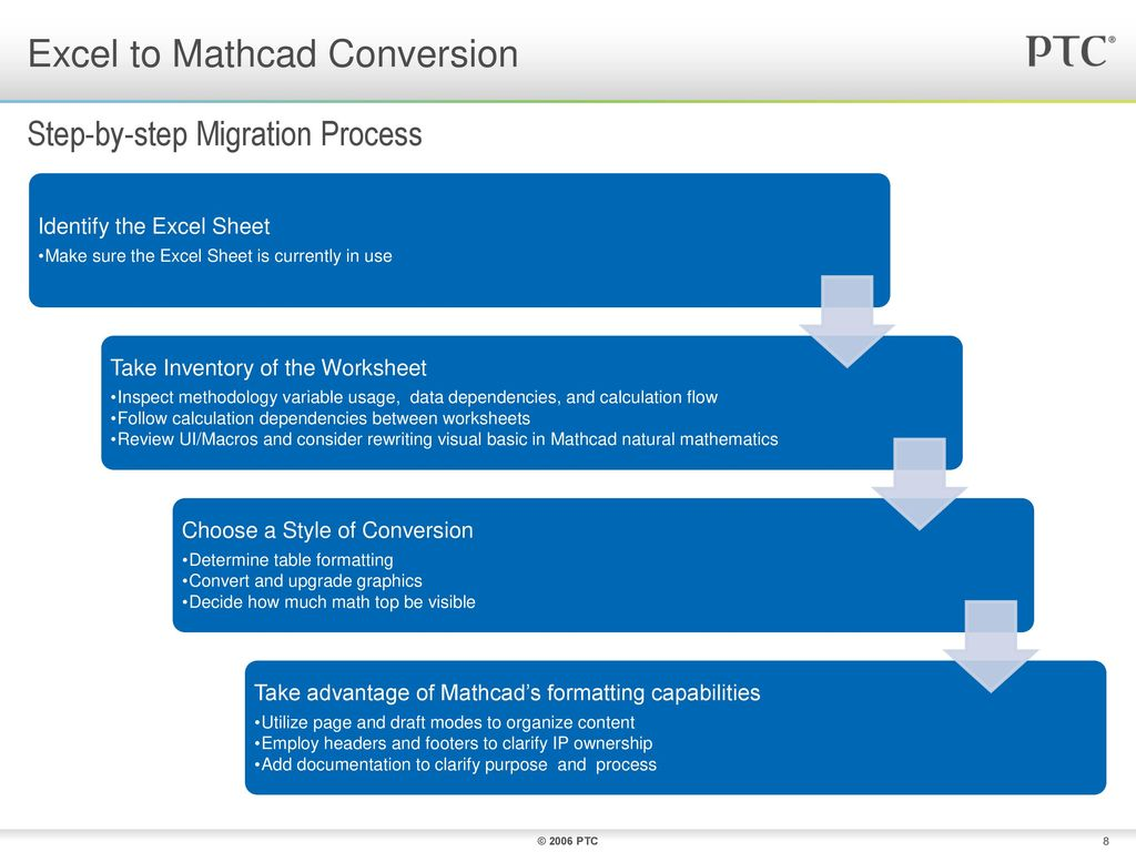 Converting Excel to Mathcad - ppt download