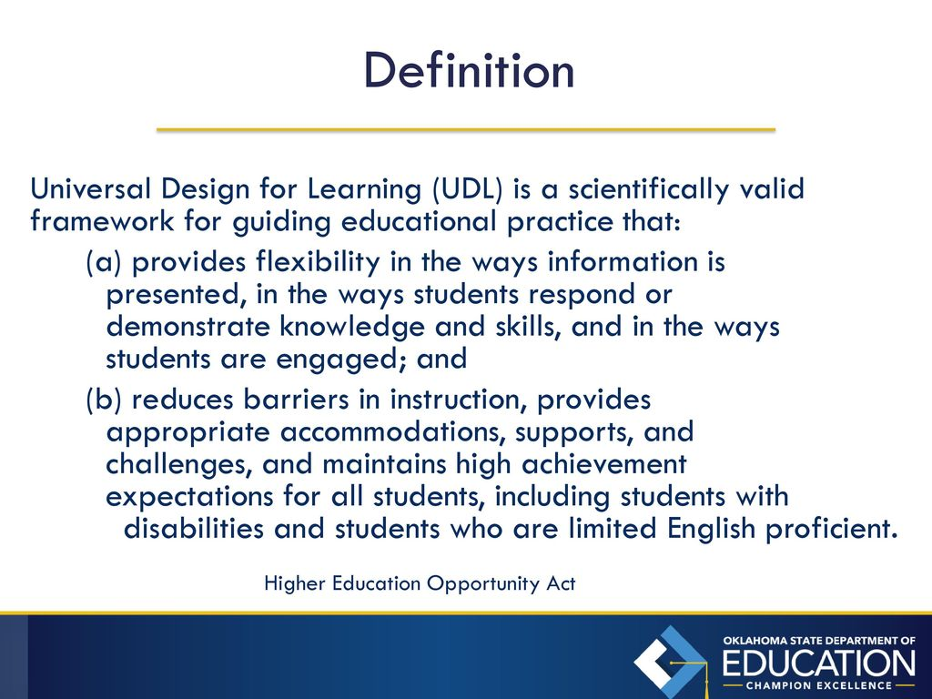 universal design for learning - ppt download