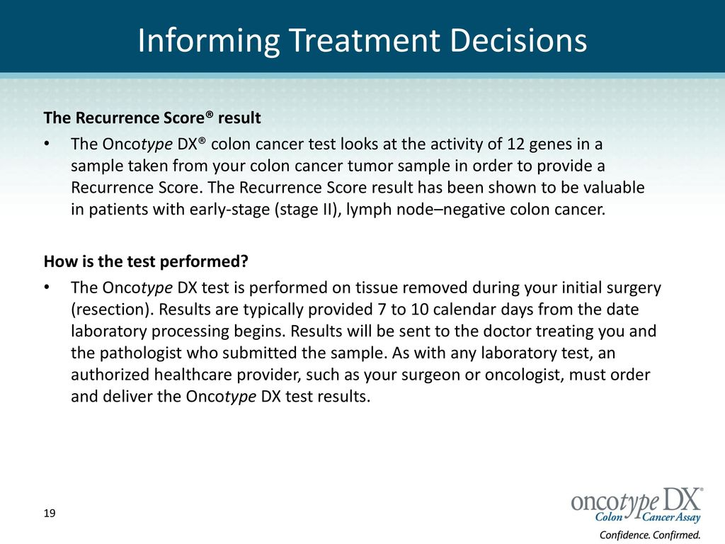 Making Treatment Decisions After a Colon Cancer Diagnosis recommend
