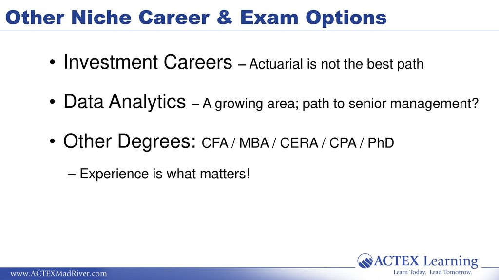 Things the SOA & CAS Don't Tell You - ppt download