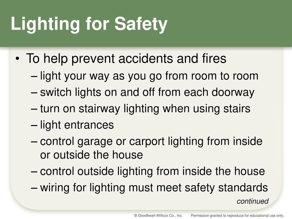 Chapter 17 Window Treatments Lighting And Accessories Ppt Video House Wiring Safety For To Help Prevent Accidents Fires