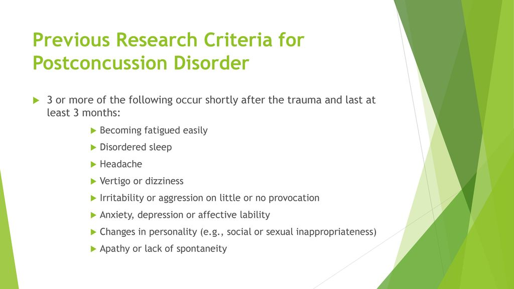 Postconcussion Syndrome - ppt download