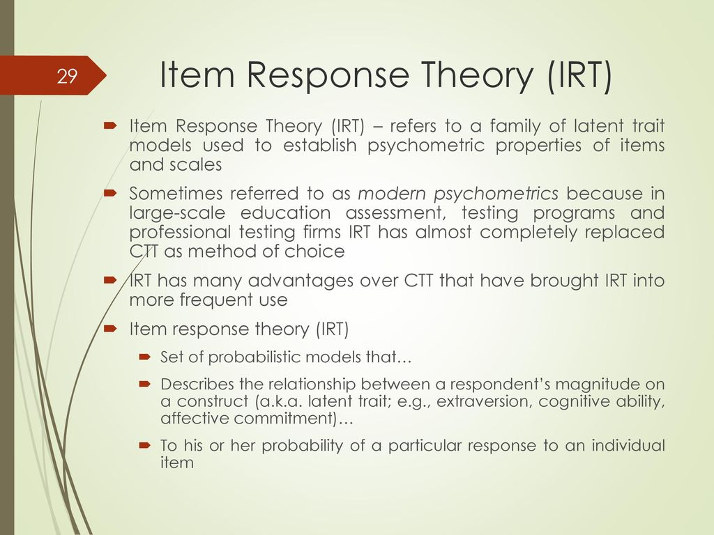 applications of item response theory to practical testing problems lord f m