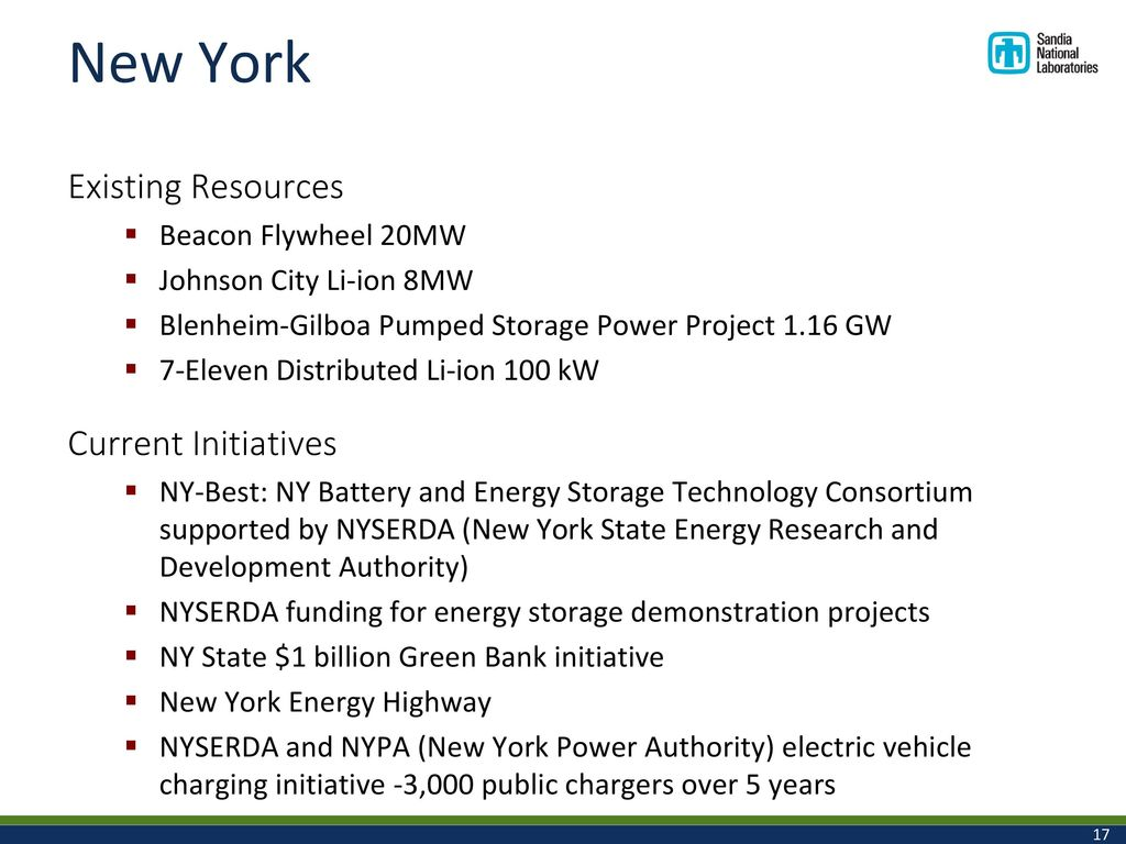 Federal and State Energy Storage Policies and Efforts - ppt download