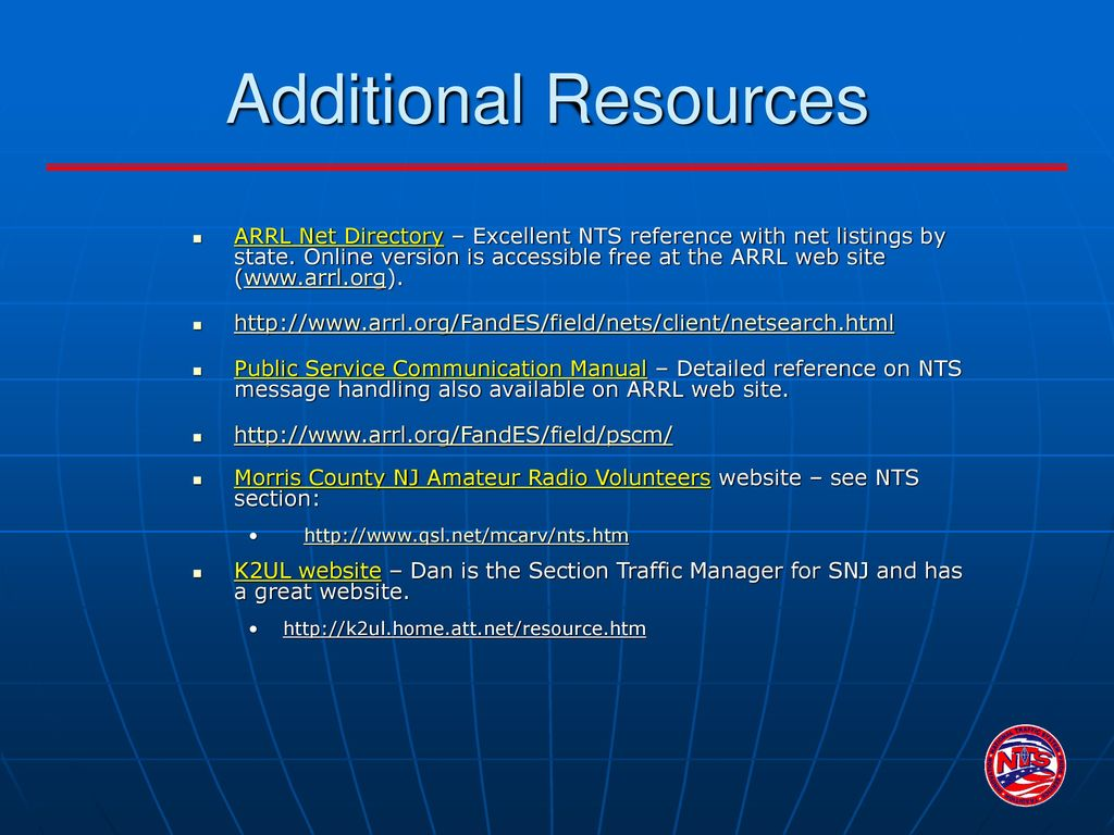 National Traffic System (NTS) An Introduction - ppt download