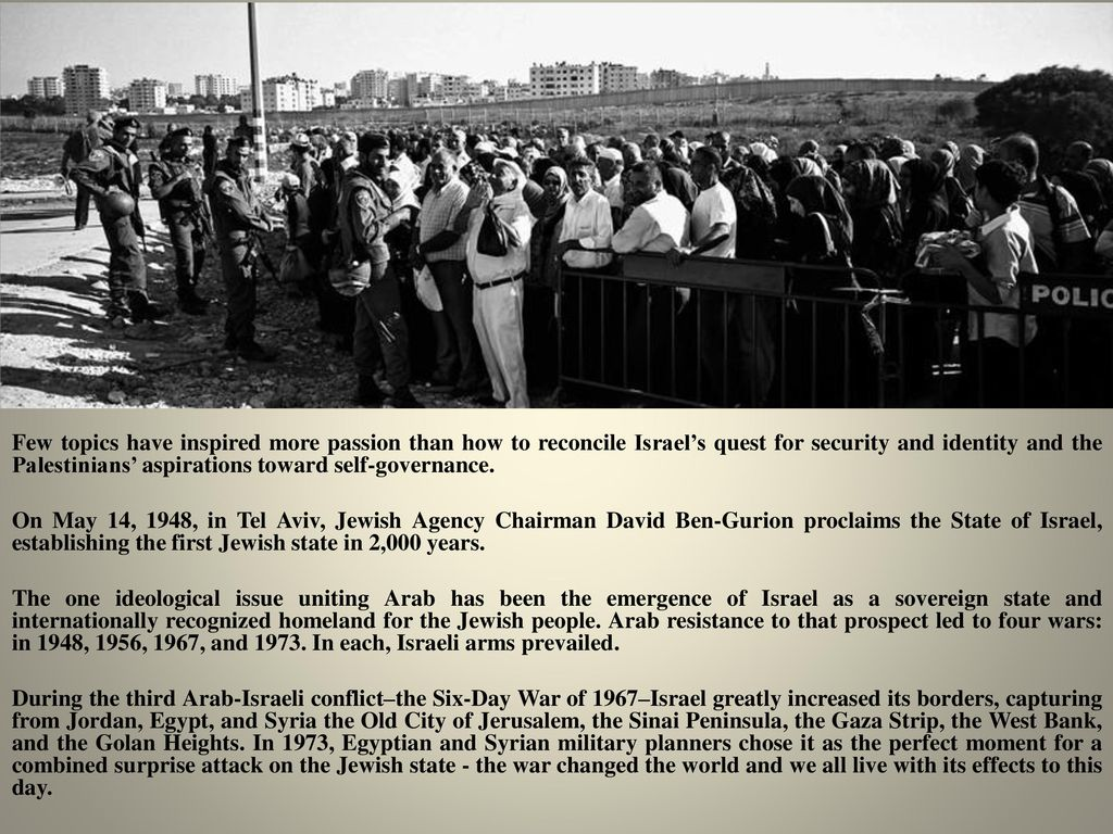 How to reconcile Israel with Palestine 58