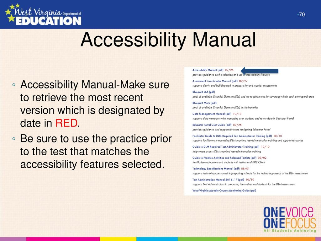 Overview and preparation for the 20162017 dlm alternate assessment 70 accessibility malvernweather Images