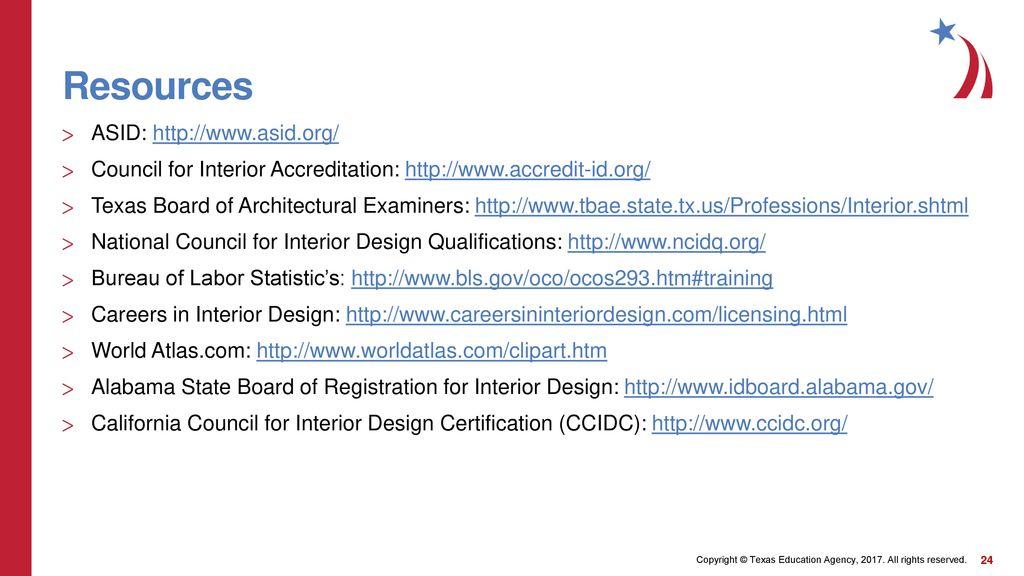 Interior design license requirements ppt download - Interior design license california ...