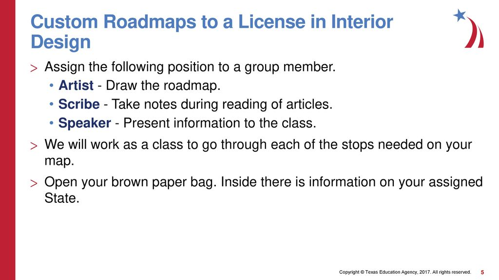 Merveilleux Custom Roadmaps To A License In Interior Design