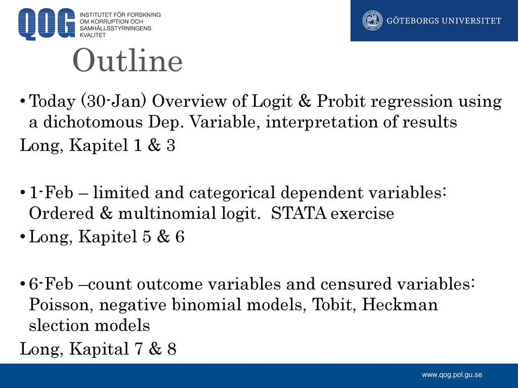 Limited Dependent Variables - ppt download