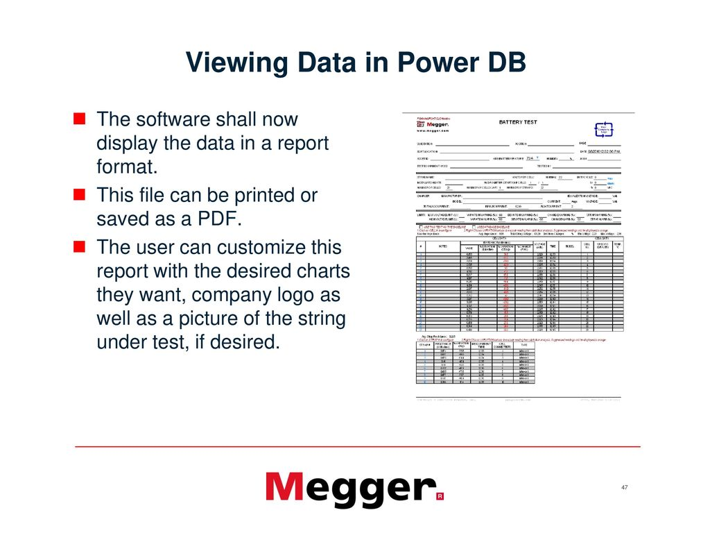 BITE3 Operation with Power DB - ppt video online download