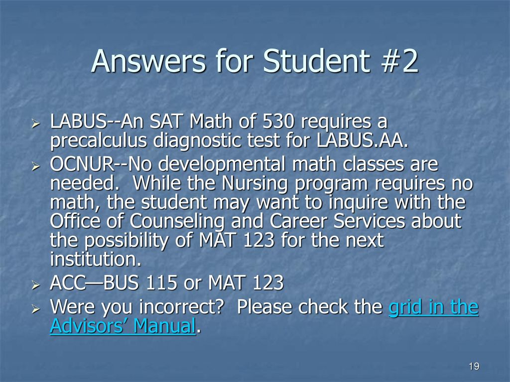 Welcome to Academic Advising Tutorial--Mathematics - ppt download
