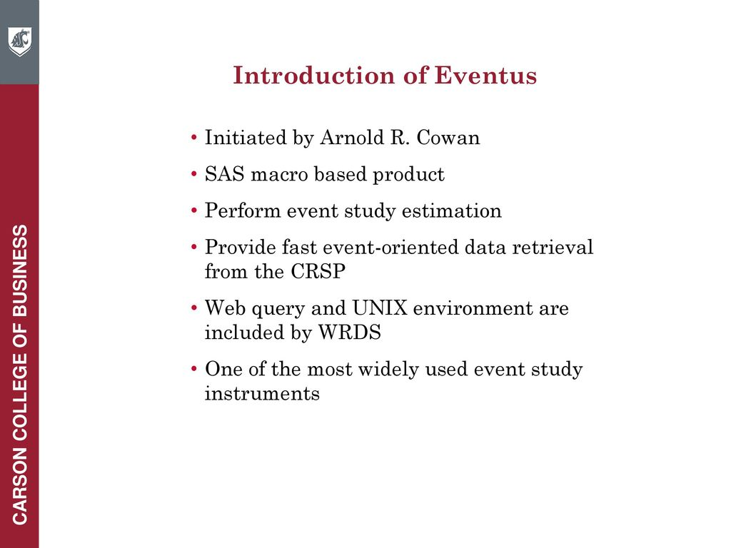 Wharton Research Data Services (WRDS) Workshop - ppt download