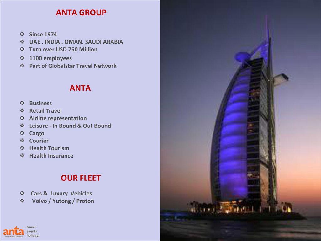 WHY ANTA? ANTA is part of ETA Ascon Al Ghurair Flagship