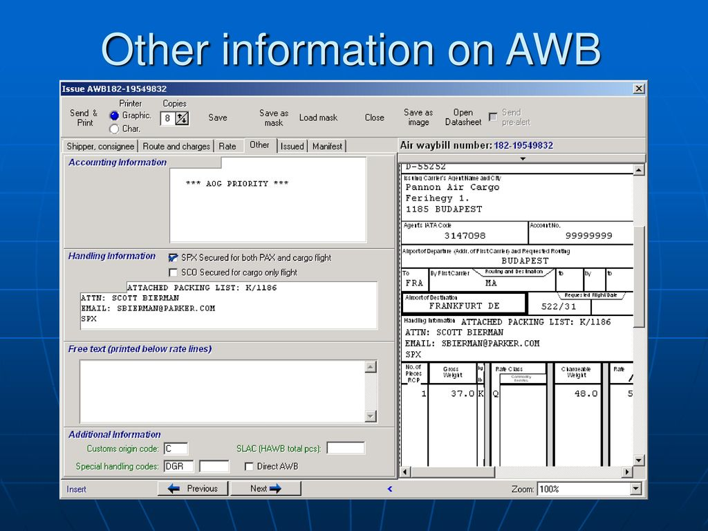 INTRODUCTION TO CCS HUNGARY AWB FORWARDER SYWSTEM - ppt download