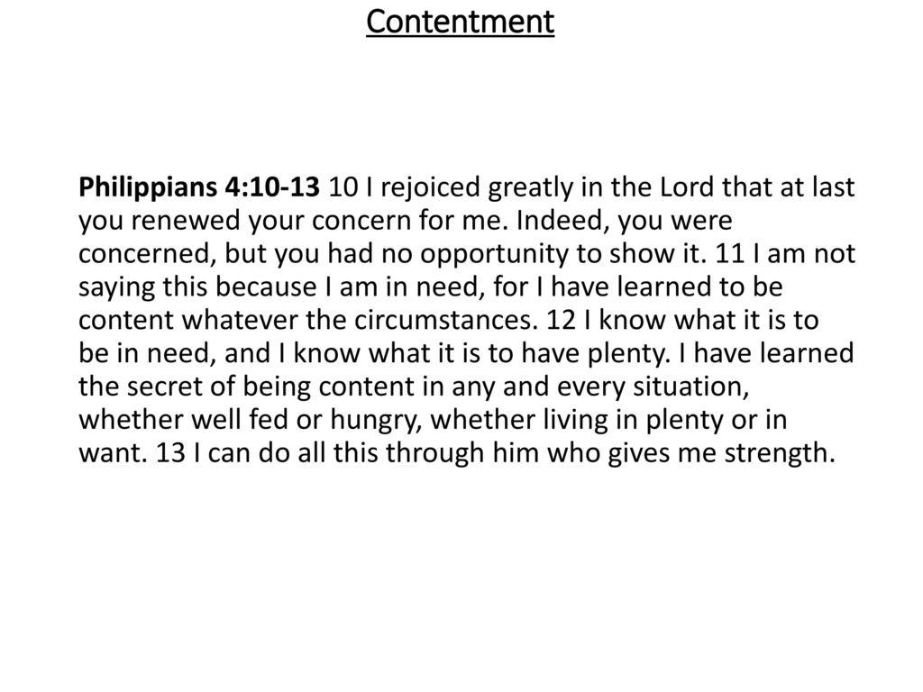 4 contentment philippians
