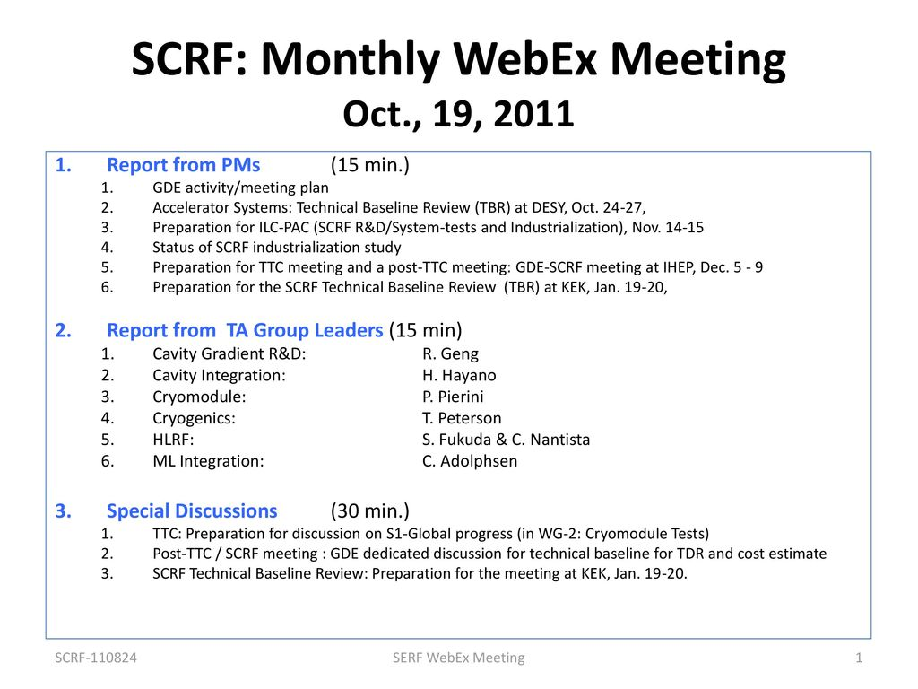 07b04abaa9 SCRF  Monthly WebEx Meeting Oct.