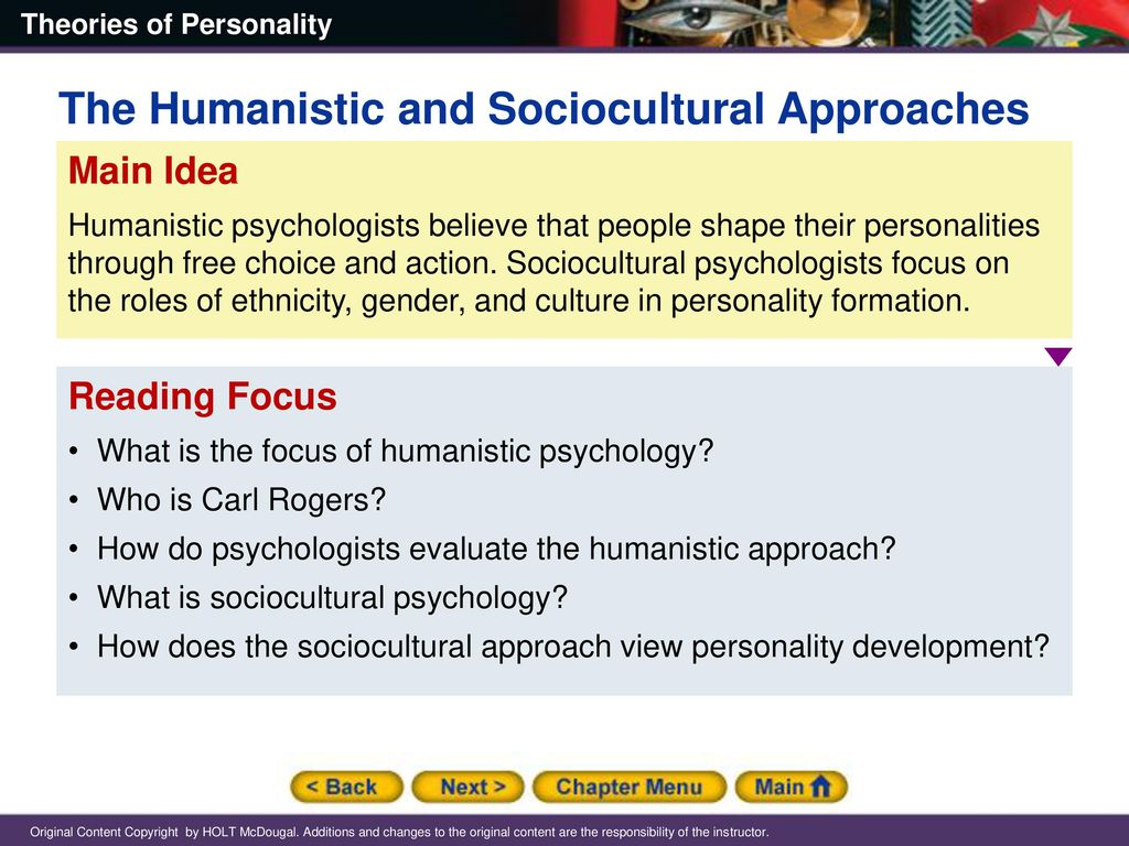 54 The Humanistic and Sociocultural Approaches