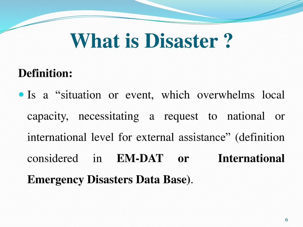 post-disaster situation - ppt download