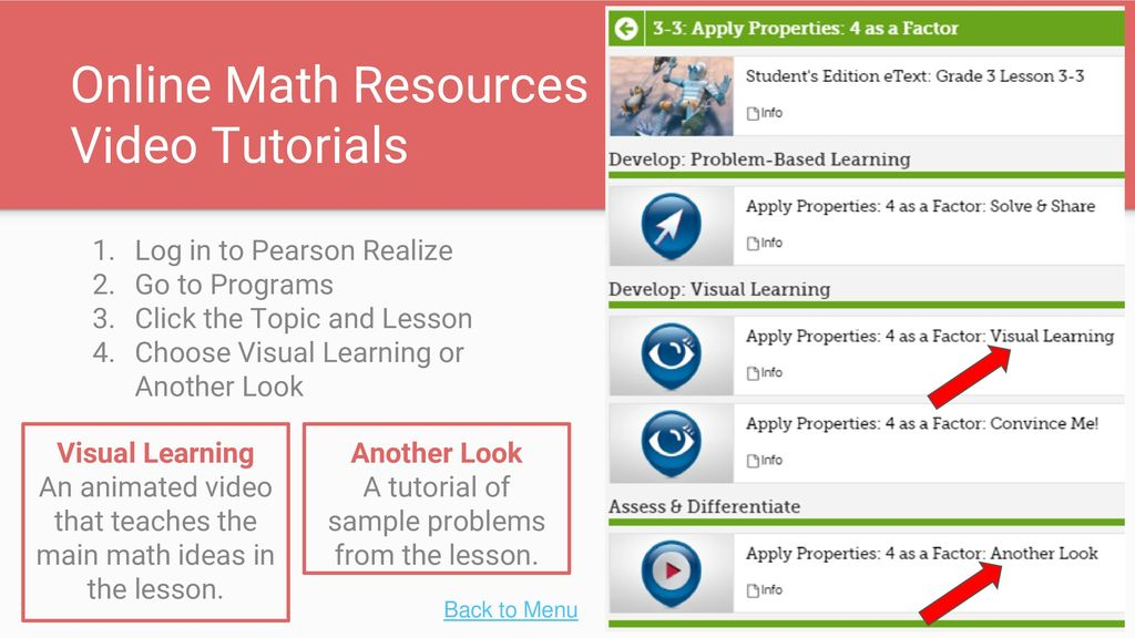 Parent Guide to enVisionMath2 0 Online Resources - ppt video