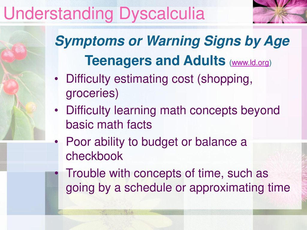 Simply excellent Dyscalculia in adults