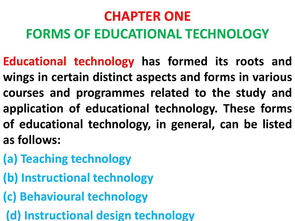 Educational Technology Educ 209 Ppt Download