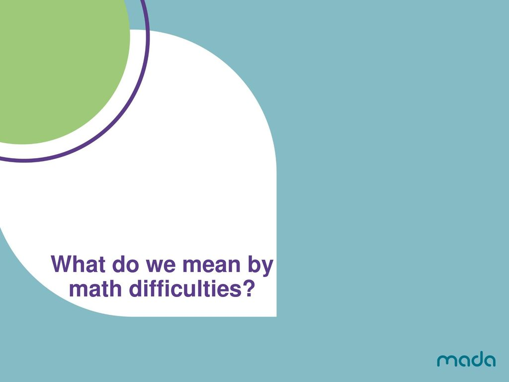 Math Difficulties and Assistive Technology - ppt download