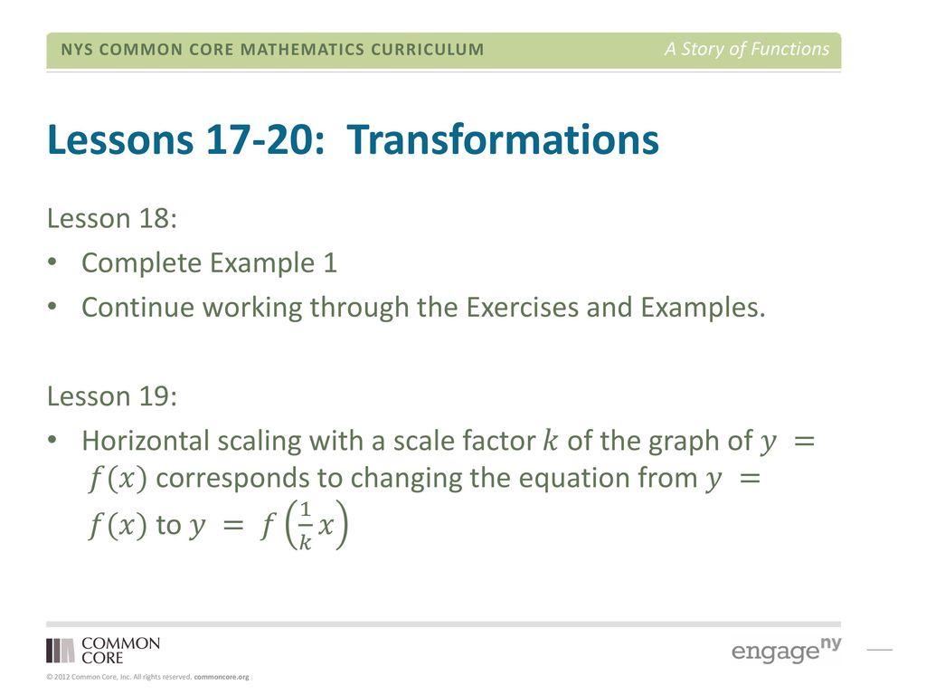 Engageny Algebra 2 Module 3 Lesson 17