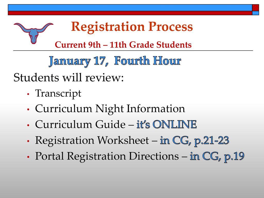 parkway west registration ppt download rh slideplayer com Enrollment Registration Religious Education Registration Clip Art