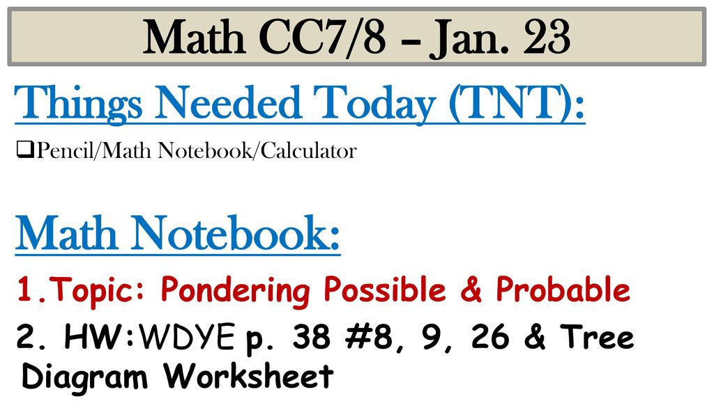 Math cc78 jan 23 math notebook things needed today tnt ppt math cc78 jan 23 math notebook things needed today tnt ccuart Choice Image