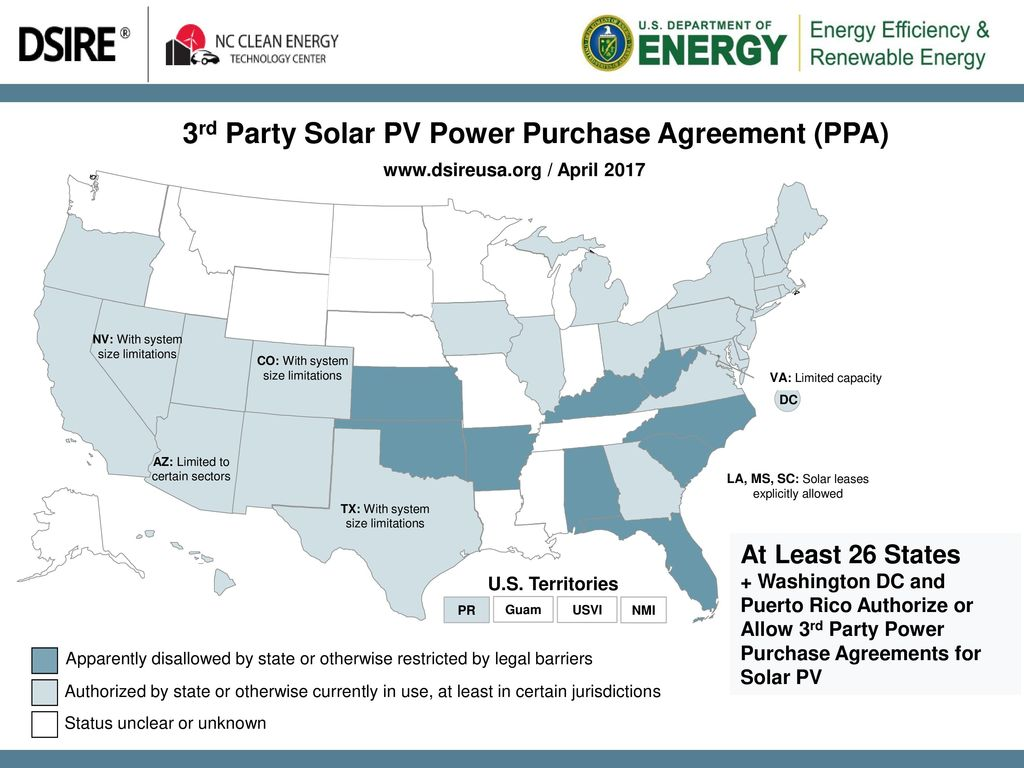3rd Party Solar PV Power Purchase Agreement (PPA) - ppt download