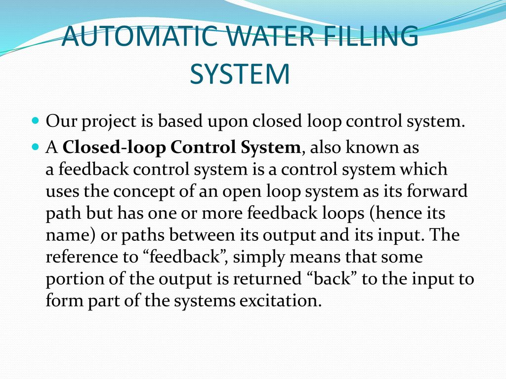 PLC BASED AUTOMATIC WATER FILLING SYSTEM - ppt video online