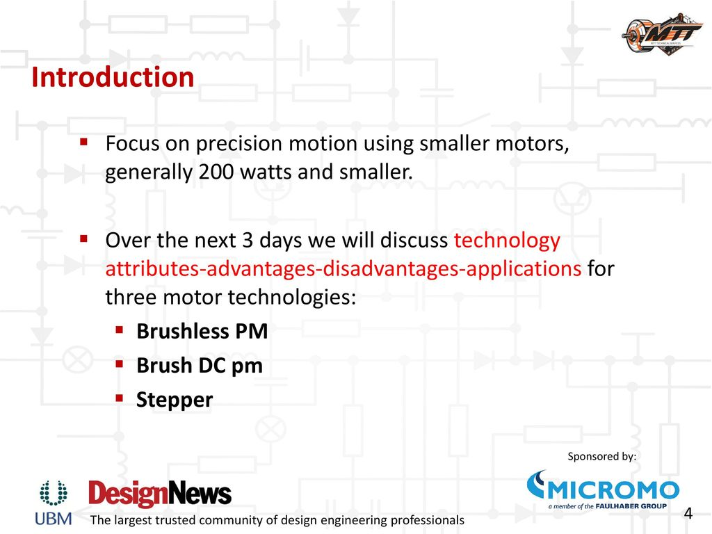 Precision Sub-Fractional Motor Technologies: - ppt download