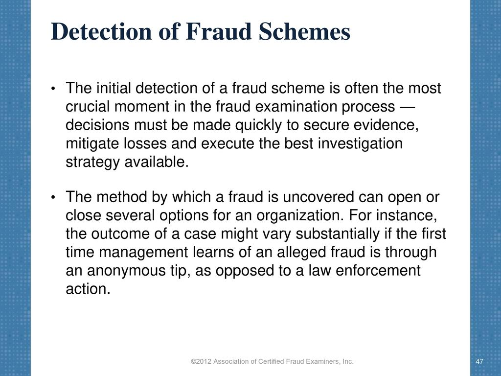 New options for fraudulent schemes