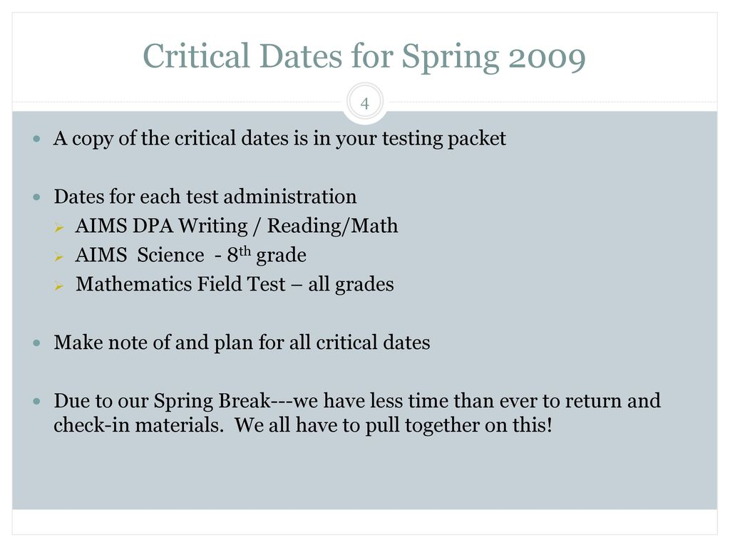 Spring 2009 MS AIMS Pre-Test Training - ppt video online download