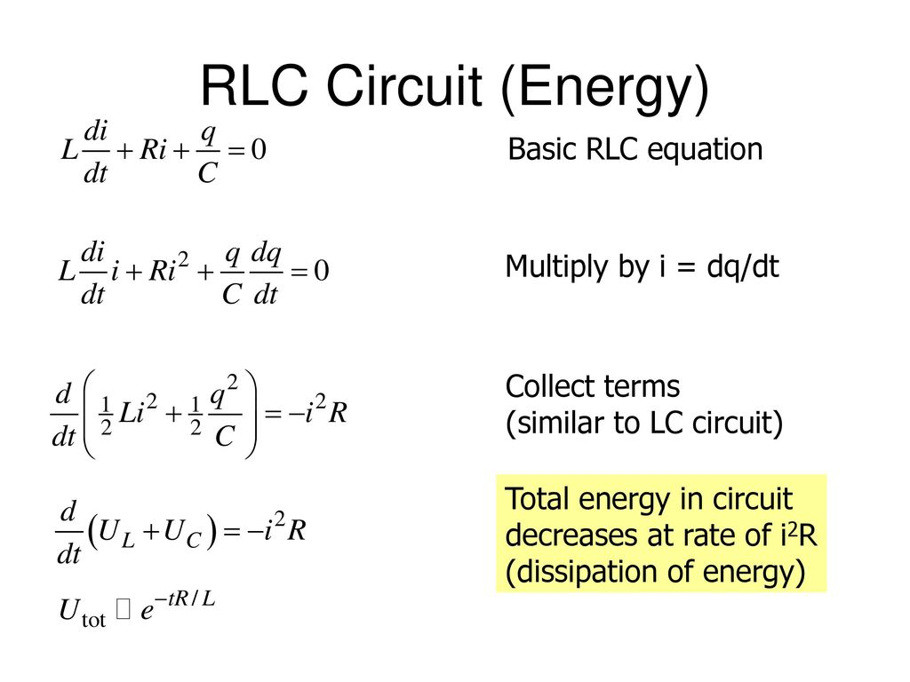 Energy Formula In Rlc Circuit Youtube Golfclub Series Circuits A Of Digital Logic Experiments And Simulations Using Ttlcmos Integrated Designed To Reinforce