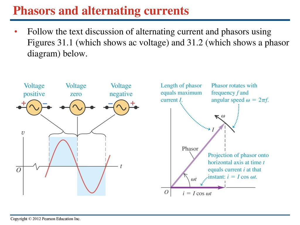 Chapter 31 Alternating Current Ppt Video Online Download Diagram Phasors And Currents