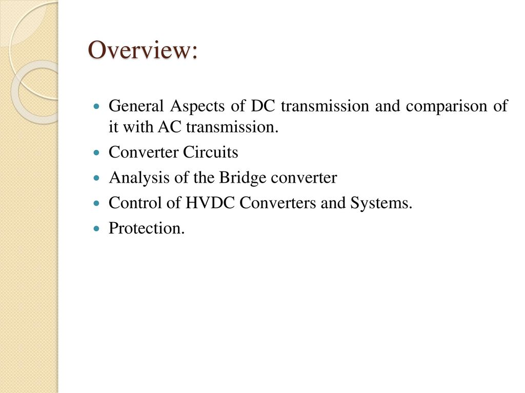Hvdc Transmission Subject Code10ee Ppt Download Ac To Dc Converter Public Circuit Using Bridge Overview General Aspects Of And Comparison It With